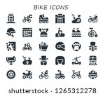 bike icon set. 30 filled bike... | Shutterstock .eps vector #1265312278