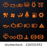 set of simple illuminated car... | Shutterstock .eps vector #126531452