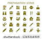preparation icon set. 30... | Shutterstock .eps vector #1265316505
