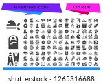 adventure icon set. 120 filled ... | Shutterstock .eps vector #1265316688