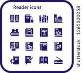 reader icon set. 16 filled... | Shutterstock .eps vector #1265320258