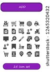 add icon set. 25 filled add... | Shutterstock .eps vector #1265320432