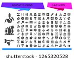 growth icon set. 120 filled... | Shutterstock .eps vector #1265320528