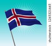 waving iceland flag. vector... | Shutterstock .eps vector #1265321665