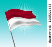 waving indonesia flag. vector... | Shutterstock .eps vector #1265321668