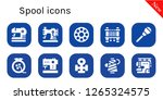 spool icon set. 10 filled... | Shutterstock .eps vector #1265324575