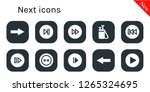 next icon set. 10 filled next... | Shutterstock .eps vector #1265324695