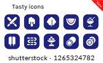 tasty icon set. 10 filled... | Shutterstock .eps vector #1265324782