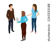 group of business people... | Shutterstock .eps vector #1265333188