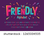 colorful stylized font and... | Shutterstock .eps vector #1265334535
