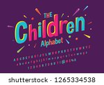 colorful stylized font and... | Shutterstock .eps vector #1265334538