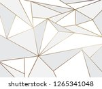 abstract white polygon artistic ... | Shutterstock .eps vector #1265341048