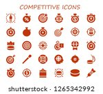 competitive icon set. 30... | Shutterstock .eps vector #1265342992