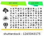 sky icon set. 120 filled sky... | Shutterstock .eps vector #1265343175
