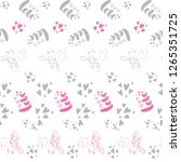 pattern of the lettering doodle ... | Shutterstock .eps vector #1265351725