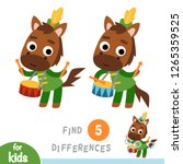 find differences  education... | Shutterstock .eps vector #1265359525