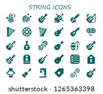 string icon set. 30 filled... | Shutterstock .eps vector #1265363398