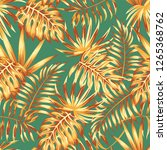 abstract color palm leaves... | Shutterstock .eps vector #1265368762