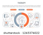 linear banner of the therapy.... | Shutterstock .eps vector #1265376022