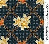 decorative plumeria flowers... | Shutterstock . vector #1265376202