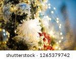 a lot of christmas red balls... | Shutterstock . vector #1265379742