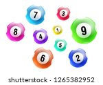 vector colorful lottery   bingo ... | Shutterstock .eps vector #1265382952