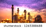 petrochemical industrial plant... | Shutterstock . vector #1265388688