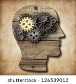 brain model made from rusty... | Shutterstock . vector #126539012