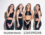laughing awessome sportswomen... | Shutterstock . vector #1265390248