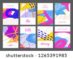 set of creative universal... | Shutterstock .eps vector #1265391985