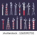 wireless tower. tv radio... | Shutterstock .eps vector #1265392732