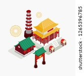 china town temple | Shutterstock .eps vector #1265396785