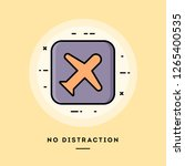 no distraction mode  flat... | Shutterstock .eps vector #1265400535