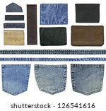 Blank Leather Jeans Labels ...
