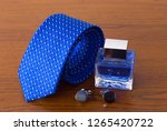blue bow tie  couple of... | Shutterstock . vector #1265420722