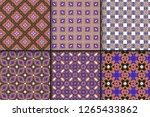 set of seamless geomteric... | Shutterstock .eps vector #1265433862