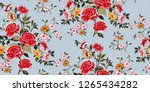 seamless floral pattern in... | Shutterstock .eps vector #1265434282