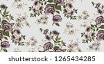 seamless floral pattern in... | Shutterstock .eps vector #1265434285
