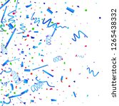 confetti. colorful confetti on... | Shutterstock .eps vector #1265438332