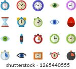 color flat icon set stopwatch...   Shutterstock .eps vector #1265440555