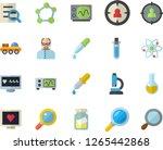 color flat icon set magnifier... | Shutterstock .eps vector #1265442868