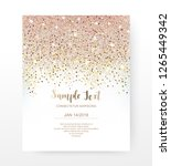 holiday invitation card with... | Shutterstock .eps vector #1265449342