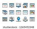 web hosting related color line... | Shutterstock .eps vector #1265452348