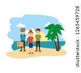 group of people on the beach | Shutterstock .eps vector #1265459728