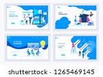 set of creative website... | Shutterstock .eps vector #1265469145