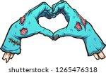 valentine zombie hands forming... | Shutterstock .eps vector #1265476318