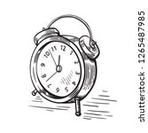 hand drawn sketch modern old... | Shutterstock .eps vector #1265487985