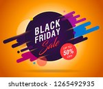 black friday sale abstract...   Shutterstock .eps vector #1265492935