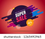 super sale abstract banner...   Shutterstock .eps vector #1265492965