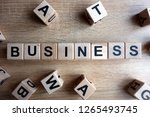 Business Word From Wooden...